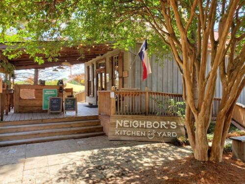 Neighbor's Kitchen and Yard