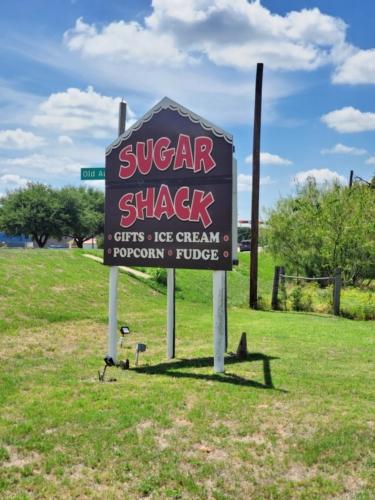 Sugar Shack Sign in Bastrop Texas